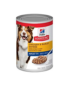 Hill's Science Diet Dog Adult 7+ Chicken & Barley Entree 12 x 370gm