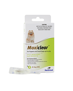 Moxiclear Puppies & Small Dogs Less Than 4kg Green 3 Pack