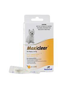 Moxiclear Dog 4-10kg Yellow