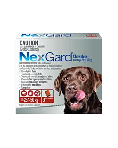 NexGard Chewables Dog Large 25.1-50Kg Red